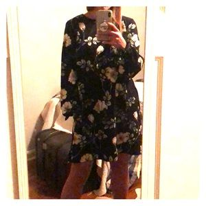 H & M Floral Shift Dress with Pockets